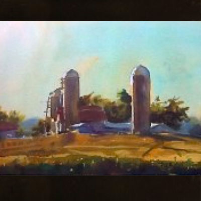 Create a Basic Watercolor (subject: Farms)