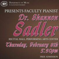 Faculty Recital: Shannon Sadler, Piano