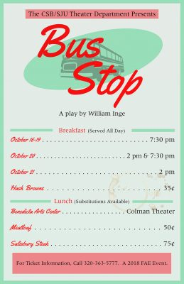 CSB/SJU Theater Department Bus Stop by William Ing...
