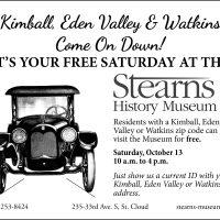 Stearns History Museum Zip Code Saturdays - Kimball, Eden Valley and Watkins