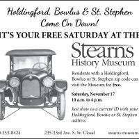 Stearns History Museum Zip Code Saturdays - Holdingford, St. Stephen and Bowlus