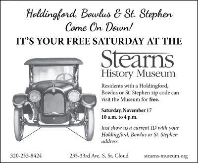 Stearns History Museum Zip Code Saturdays - Holdin...