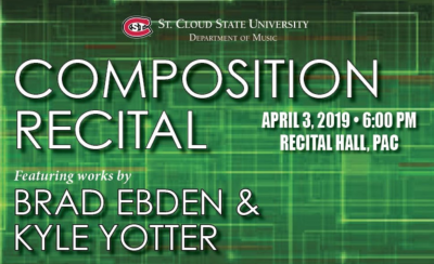 Composition Recital Featuring Works by Brad Ebden ...