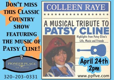 Patsy Cline Tribute by Colleen Raye - 2 pm Matinee...