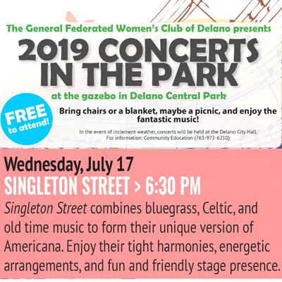 Delano Concerts in the Park - Singleton Street