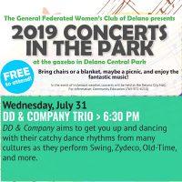 Delano Concerts in the Park - DD & Company Trio