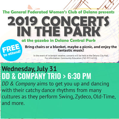 Delano Concerts in the Park - DD & Company Tri...