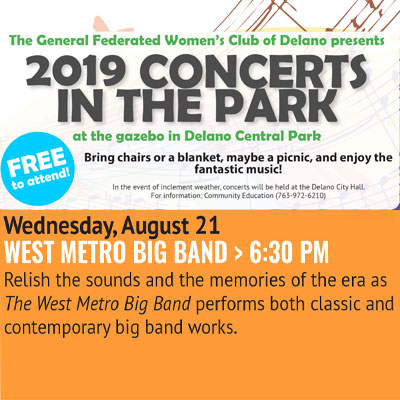 Delano Concerts in the Park - West Metro Big Band