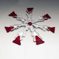Fused Glass Holiday Ornaments