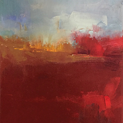 Abstract Landscape Palette Knife Painting in Oil