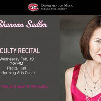 Faculty Recital featuring Dr. Shannon Wettstein Sadler, Piano