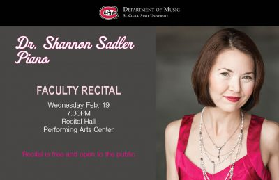 Faculty Recital featuring Dr. Shannon Wettstein Sa...