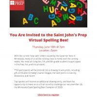 Saint John's Prep Virtual Spelling Bee