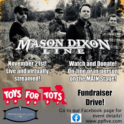 Mason Dixon Line Toys for Tots Fundraiser