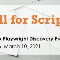 Call for Scripts | 2021 VSA Playwright Discover Program