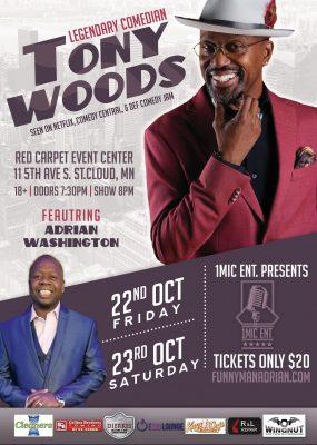 1Mic Ent Presents Legendary Comedian Tony Woods