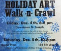 Holiday Art Walk-n-Crawl ~ Winter Walk