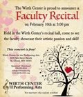 Wirth Center for the Performing Arts Faculty Recital